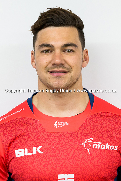 David Havili.<br /> Headshots of the Tasman Makos Rugby Union squad for the 2017 season of the Mitre 10 Cup Championship.<br /> Photo credit: Tasman Rugby Union.