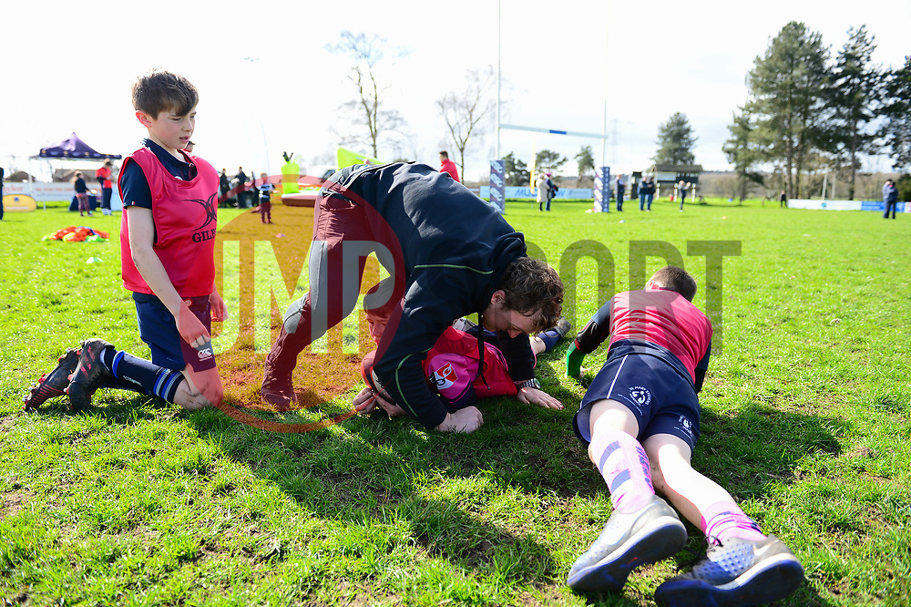 Jamie Shillcock and Worcester Warriors players and community coaches deliver coaching sessions at Stourbridge RFC  - Mandatory by-line: Dougie Allward/JMP - 19/03/2017 - Rugby - Stourbridge RFC - Stourbridge, England - Worcester Warriors Community Rugby