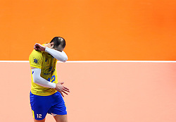 September 30, 2018 - Turin, Italy - Poland v Brazil - FIVP Men's World Championship Final.Dejection of Luiz Felipe Marques Fonteles of Brazil at Pala Alpitour in Turin, Italy on September 30, 2018. (Credit Image: © Matteo Ciambelli/NurPhoto/ZUMA Press)