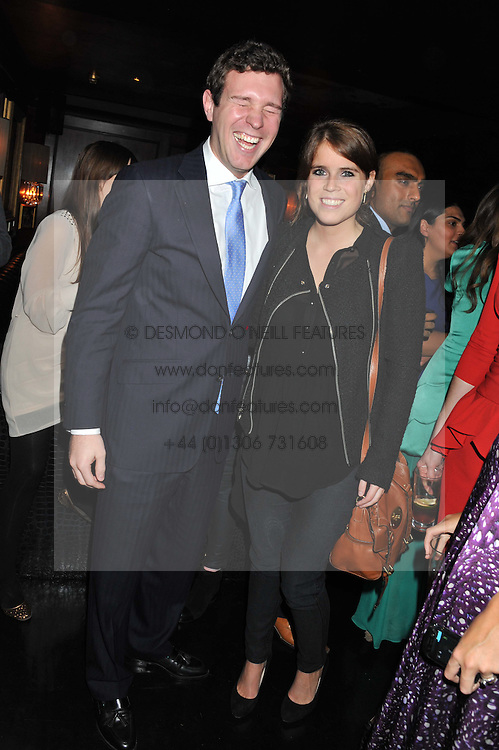 PRINCESS EUGENIE OF YORK and JACK BROOKSBANK at the launch of Beulah's collaboration with Hennessy Gold Cup and a preview of the SS13 Collection held at The Brompton Club, 92b Old Brompton Road, London SW7 on 18th October 2012.