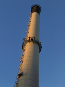upward view of smoke stack