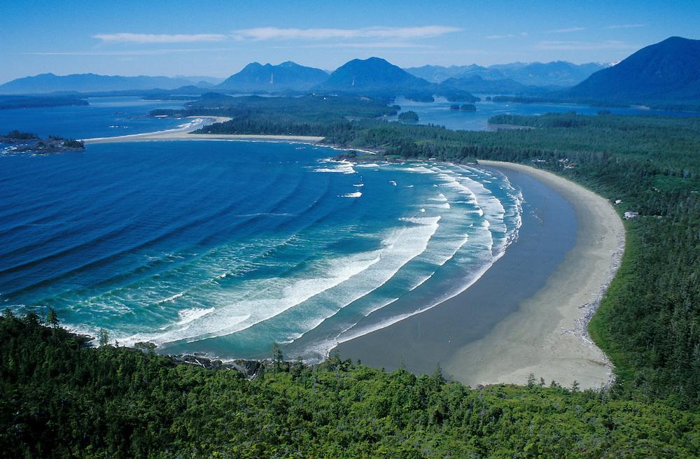 Chesterman Beach & Clayoquot Sound near Tofino on Vancouver Island; British Columbia, Canada.