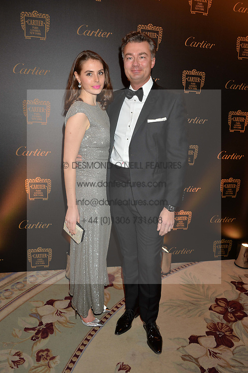 GENEVIEVE GAUNT and LAURENT FENIOU at the 26th Cartier Racing Awards held at The Dorchester, Park Lane, London on 8th November 2016.