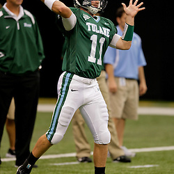 Sep 12, 2009; New Orleans, LA, USA; Tulane Green Wave quarterback Ryan Griffin (11) before a game against the BYU Cougars at the Louisiana Superdome.  BYU defeated Tulane 54-3. Mandatory Credit: Derick E. Hingle-US PRESSWIRE
