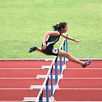 Choa Chu Kang Sports Complex, Thursday, April 11, 2013 &mdash; Jannah Wong led a podium sweep for Raffles Institution (RI) when she won the A Division 100m hurdles final at the 54th National Schools Track and Field Championships. Jannah was first in 15.10 seconds while Jermaine Liang was second in 17.50s. Meaghan Chan was third in 17.53s.<br />