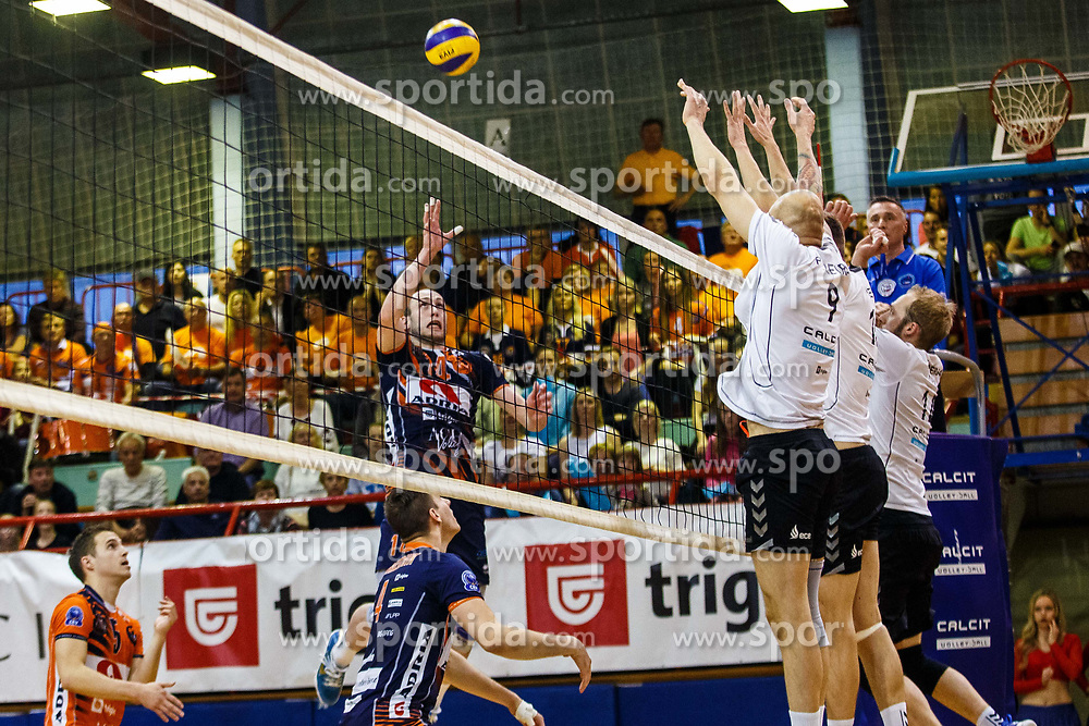 Stern Ziga of ACH Volley during volleyball match between Calcit Volley and ACH Volley in Final of 1. DOL Slovenian Man national Championship 2016/17 on 24th of April, 2017 in Kamnik, Slovenija.  Photo by Grega Valancic / Sportida