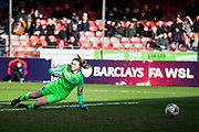GOAL: Jordan Hobbs (Arsenal) scores a goal 0-3 during the FA Women's Super League match between Brighton and Hove Albion Women and Arsenal Women FC at The People's Pension Stadium, Crawley, England on 12 January 2020.