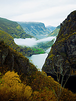 Early autumn view of fjord