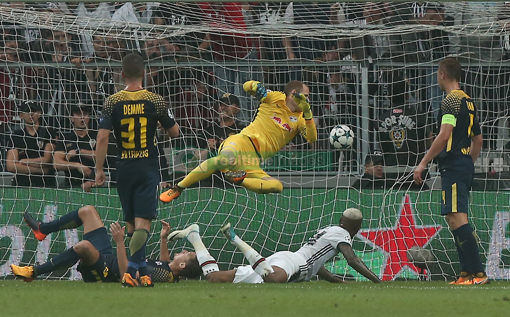 Anderson Talisca of Besiktas scores second goal of Besiktas during Besiktas vs. Leipzig UEFA Champions League game at Vodafone Park, Istanbul, September 26, 2017. Photo by Depo Photos/ABACAPRESS.COM