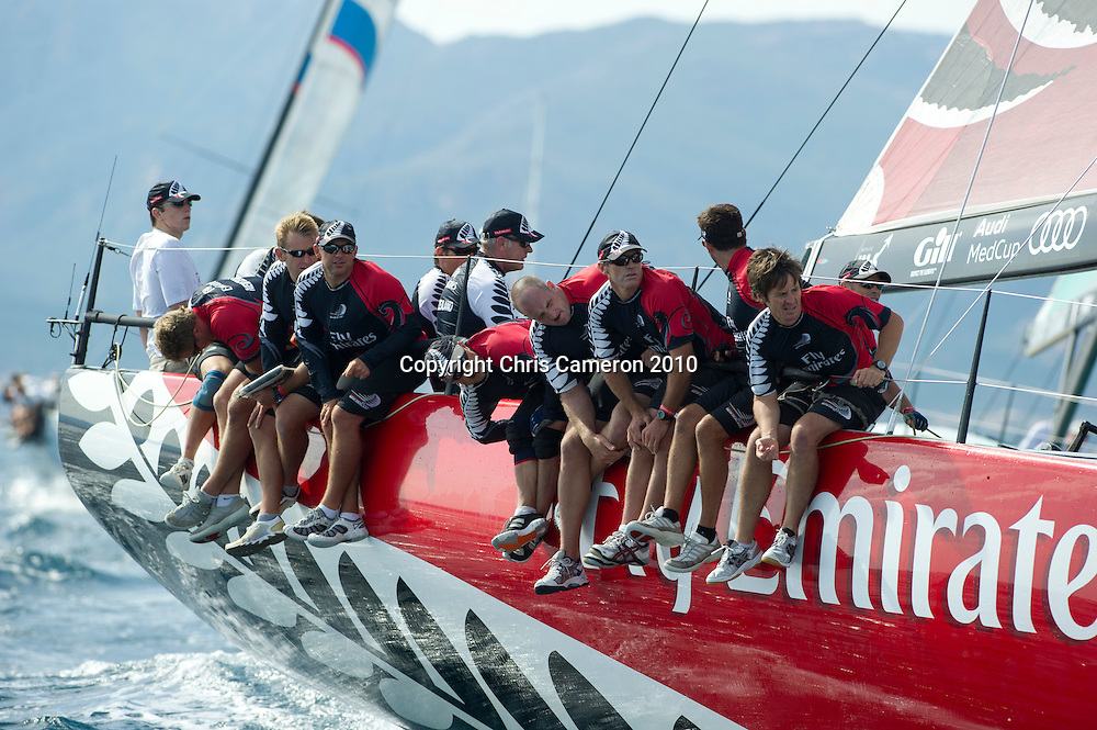 Emirates Team New Zealand. Race two on Day one of the Trophy of Sardinia, Audi MedCup 2010. 21/9/2010
