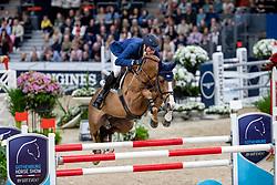 DEUSSER Daniel (GER), Scuderia 1918 Tobago Z<br /> Göteborg - Gothenburg Horse Show 2019 <br /> Longines FEI World Cup™ Final II<br /> Int. jumping competition with jump-off (1.50 - 1.60 m)<br /> Longines FEI Jumping World Cup™ Final and FEI Dressage World Cup™ Final<br /> 05. April 2019<br /> © www.sportfotos-lafrentz.de/Stefan Lafrentz