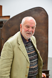 In the image - Artist Anthony Caro. Park Avenue Series.<br /> Sir Anthony Caro, Park Avenue Series, press view. Internationally respected British abstract sculptor visits his exhibition ahead of the private view. The display presents new sculpture series of work which evolved while planning a large scale public sculpture for New York City. Exhibition opens today. Gagosian, <br /> London, United Kingdom<br /> Thursday, 6th June 2013<br /> Picture by Nils Jorgensen / i-Images