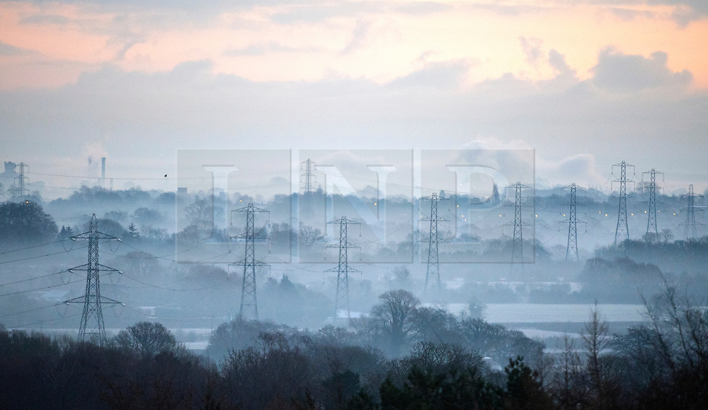 © Licensed to London News Pictures. 29/12/2014. Cheshire, UK Frosty and cold weather near Tarporley in Cheshire this morning 29th December 2014. The UK experienced one of the coldest nights this year. . Photo credit : Stephen Simpson/LNP