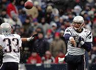 Tom Brady with a quick throw, New England Patriots @ Buffalo Bills, 11 Dec 05, 1pm, Ralph Wilson Stadium, Orchard Park, NY