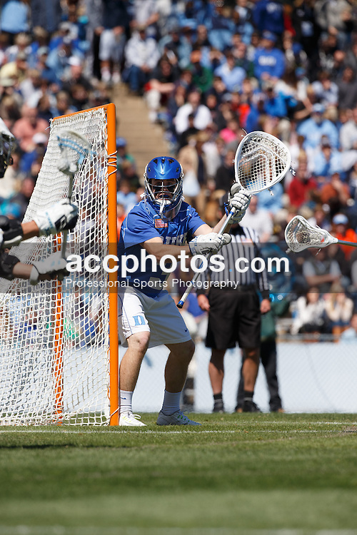 2015 March 29: Danny Fowler #3 of the Duke Blue Devils during a 14-15 loss to the North Carolina Tar Heels at Fetzer Field in Chapel Hill, NC. (Photo by Peyton Williams/US Lacrosse)