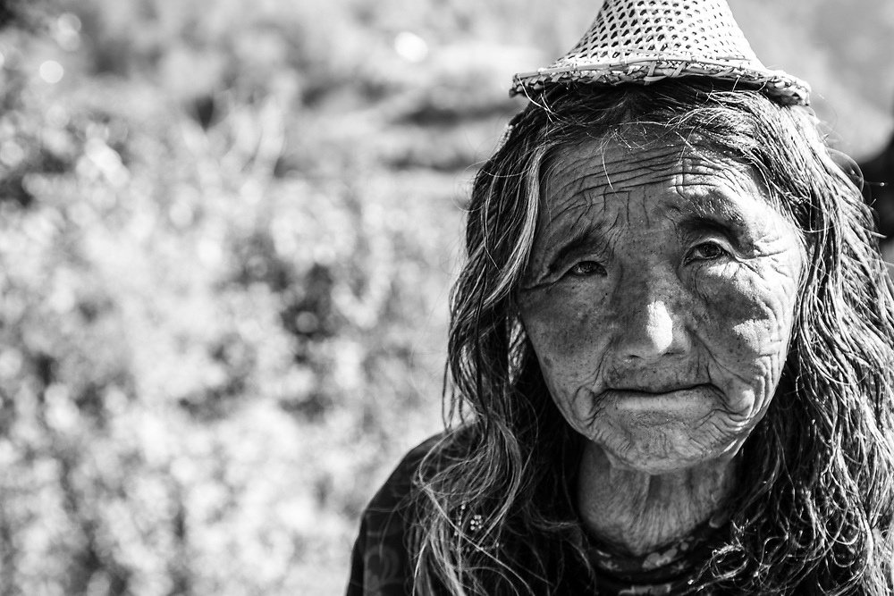 A local lady in the Bhutan countryside.