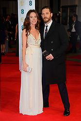 Kelly Marcel and Tom Hardy attends the EE British Academy Film Awards in 2014. The Royal Opera house, London, United Kingdom. Sunday, 16th February 2014. Picture by Chris Joseph / i-Images