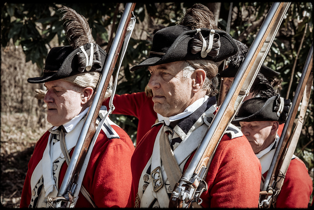 Members representing the First Guards and Coldstream Guards at the 2017 Battle of Guilford Courthouse Reenactment.