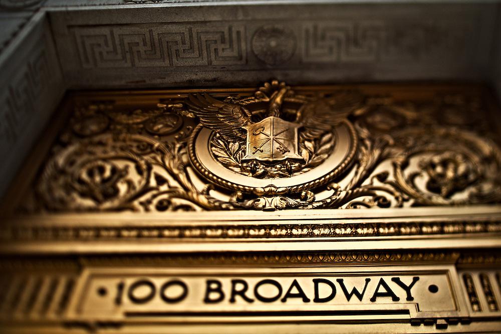 usEntrance to 100 Broadway, New York, NY,