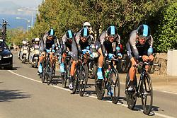 Ischia, Italy - Giro d'Italia Stage 2: Ischia - Forio (TTT) - May 5, 2013 - Sky Procycling with Bradley Wiggins