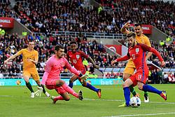 Adam Lallana of England fires a shot at goal  - Mandatory by-line: Matt McNulty/JMP - 27/05/2016 - FOOTBALL - Stadium of Light - Sunderland, United Kingdom - England v Australia - International Friendly