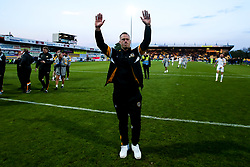 Newport County manager Michael Flynn celebrates winning through to the Sky Bet League Two Playoff Final - Mandatory by-line: Robbie Stephenson/JMP - 12/05/2019 - FOOTBALL - One Call Stadium - Mansfield, England - Mansfield Town v Newport County - Sky Bet League Two Play-Off Semi-Final 2nd Leg