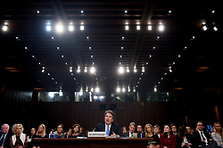 September 6, 2018 - Washington, District of Columbia, U.S - U.S. Supreme Court nominee Judge BRETT KAVANAUGH appears before the Senate Judiciary Committee for day three of his confirmation hearing on Capitol Hill. Kavanaugh was nominated by U.S. President Donald Trump to fill the vacancy on the court left by retiring Justice Anthony Kennedy. (Credit Image: © Erin Scott/ZUMA Wire)