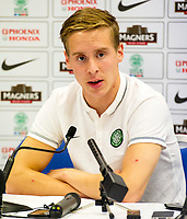 05/08/14  <br /> BT MURRAYFIELD STADIUM - EDINBURGH<br /> Celtic star Stefan Johansen speaks to the press ahead of taking on Legia Warsaw