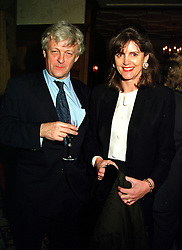 MR & MRS FRANK JOHNSON, she is the mother of Lord Lovat and model Honor Fraser, at a reception in London on 10th November 1999.MYZ 47