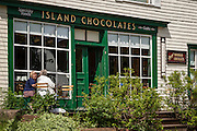 Island Chocolates shop in the village of Victoria by the Sea, Prince Edward Island, Canada.