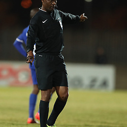 DURBAN, SOUTH AFRICA - AUGUST 23: Referee Mr Victor Hlungwani during the Absa Premiership match between Maritzburg United and Ajax Cape Town at Harry Gwala Stadium on August 23, 2017 in Durban, South Africa. (Photo by Steve Haag/Gallo Images)