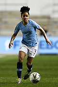 Manchester City defender Demi Stokes (3)  during the FA Women's Super League match between Manchester City Women and Everton Women at the Sport City Academy Stadium, Manchester, United Kingdom on 20 February 2019.