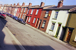 Terraced houses in the Fir Vale area of Sheffield,