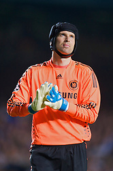 LONDON, ENGLAND - Wednesday, May 6, 2009: Chelsea's goalkeeper Petr Cech looks dejected after Barcelona's dramatic injury time winning away goal during the UEFA Champions League Semi-Final 2nd Leg match at Stamford Bridge. (Photo by David Rawcliffe/Propaganda)