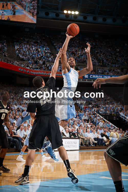 CHAPEL HILL, NC - FEBRUARY 22: James Michael McAdoo #43 of the North Carolina Tar Heels plays against the Wake Forest Demon Deacons on February 22, 2014 at the Dean E. Smith Center in Chapel Hill, North Carolina. North Carolina won 105-72. (Photo by Peyton Williams/UNC/Getty Images) *** Local Caption *** James Michael McAdoo