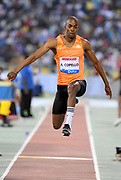 Alexis  Copello (AZE) places third in the triple jump at 56-5 3/4  (17.21m) in the 2018 IAAF Doha Diamond League meeting at Suhaim Bin Hamad Stadium in Doha, Qatar, Friday, May 4, 2018. (Jiro Mochizuki/Image of Sport)