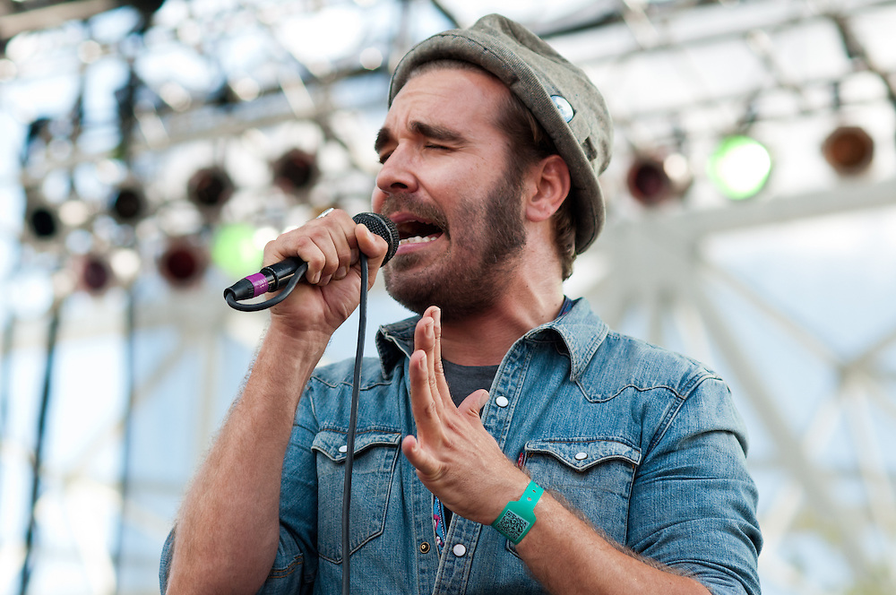 Scott Terry of Red Wanting Blue performs at Bunbury Music Festival at Yeatman's Cove in Cincinnati, Ohio on July 12, 2013.