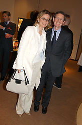 DAVID & the HON.MRS MONTGOMERY at a party to celebrate the publication of 'Last Voyage of The Valentina' by Santa Montefiore at Asprey, 169 New Bond Street, London W1 on 12th April 2005.<br />