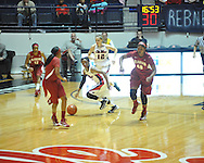 Ole Miss' Valencia McFarland (3) vs. Alabama in NCAA women's basketball action in Oxford, Miss. on Sunday, January 13, 2013. Alabama won 83-75.