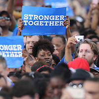 Supporters are seen as President Barack Obama campaigns for Democratic nominee Hillary Clinton at Osceola Park in Kissimmee Florida USA  06 Nov 2016