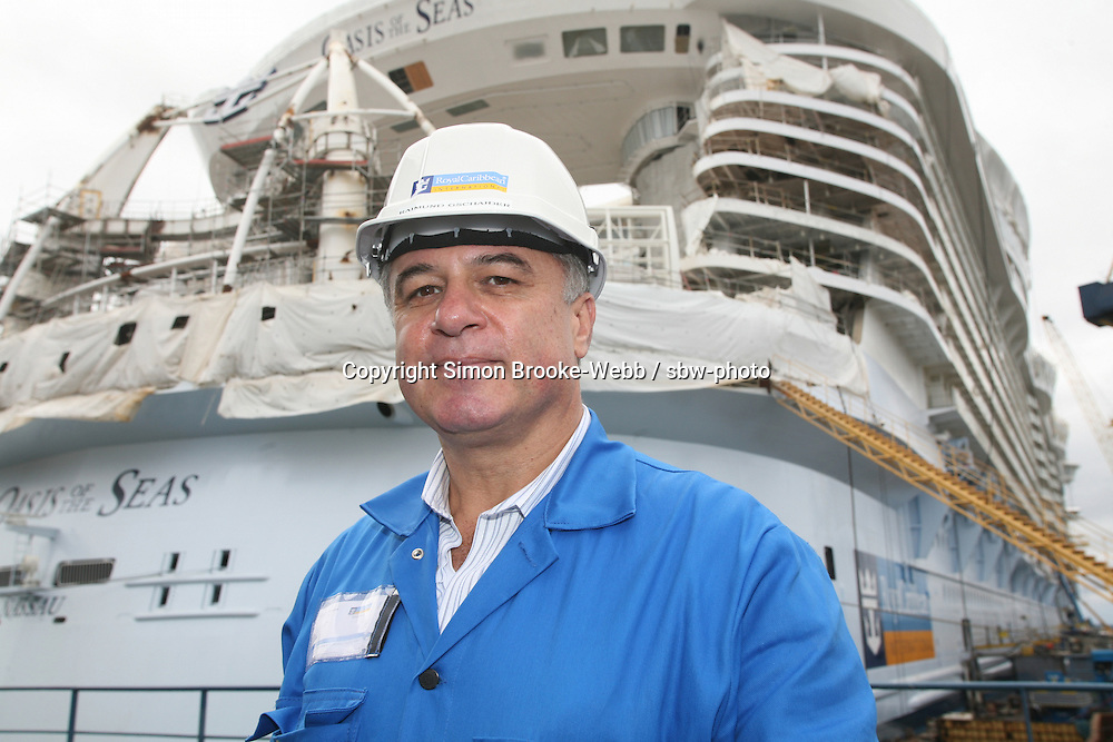 Oasis of the Seas at the shipyard in Turku, Finland where she is being built...Raimund Gschaider