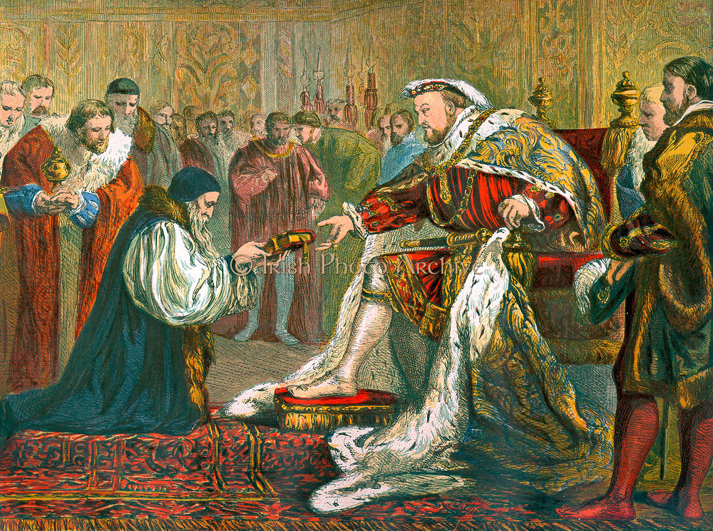 Latimer presenting the Bible to Henry V111.