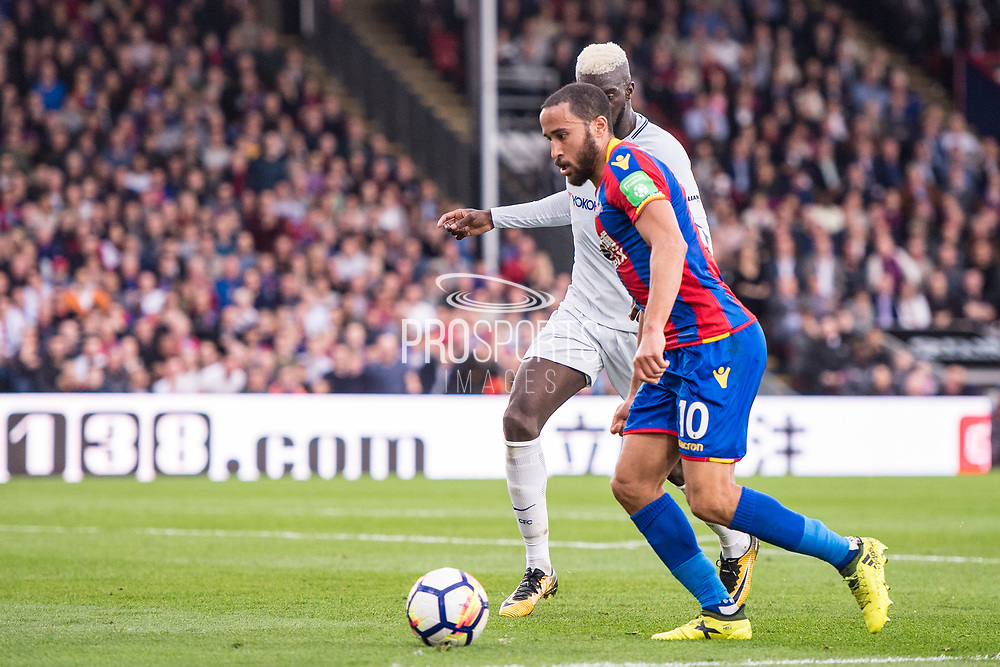 Crystal Palace #10 Andros Townsend, Chelsea (14) Tiémoué Bakayoko during the Premier League match between Crystal Palace and Chelsea at Selhurst Park, London, England on 14 October 2017. Photo by Sebastian Frej.