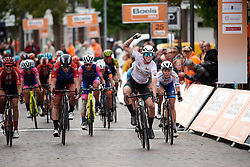 Lorena Wiebes (NED) wins sprint finish ahead of Kirsten Wild (NED) at Boels Ladies Tour 2019 - Stage 2, a 113.7 km road race starting and finishing in Gennep, Netherlands on September 5, 2019. Photo by Sean Robinson/velofocus.com