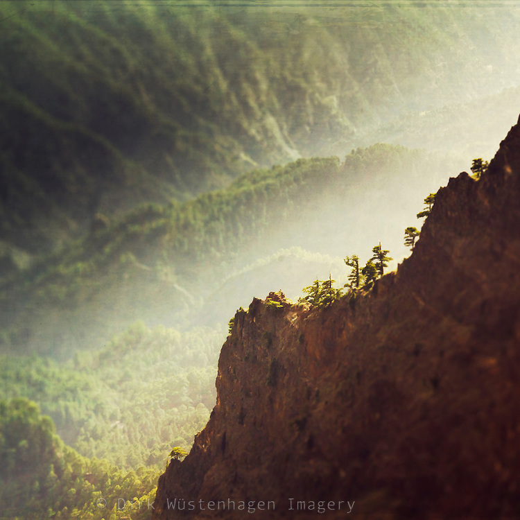 View of Caldera de Taburiente on the island of La Palma, Canary Islands, Spain<br /> Redbubble Prints: http://rdbl.co/2mXJwsq<br /> Society6 products: http://bit.ly/2mXDg3T