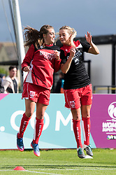 Jodie Brett and Lily Agg of Bristol City Women during warm-up - Mandatory by-line: Paul Knight/JMP - 20/05/2017 - FOOTBALL - Stoke Gifford Stadium - Bristol, England - Bristol City Women v Liverpool Ladies - FA Women's Super League Spring Series