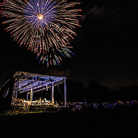 Fireworks display at The Henry Ford's Greenfield Village annual Salute to America.  Public Relations Photography by KMS Photography