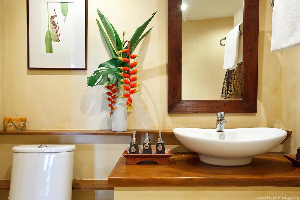 Bathroom in The Teak House, Nagalaya, Koh Samui, Thailand