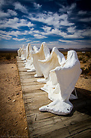 These Photos of the Rhyolite art pieces are not for sale as requested by the Artists.