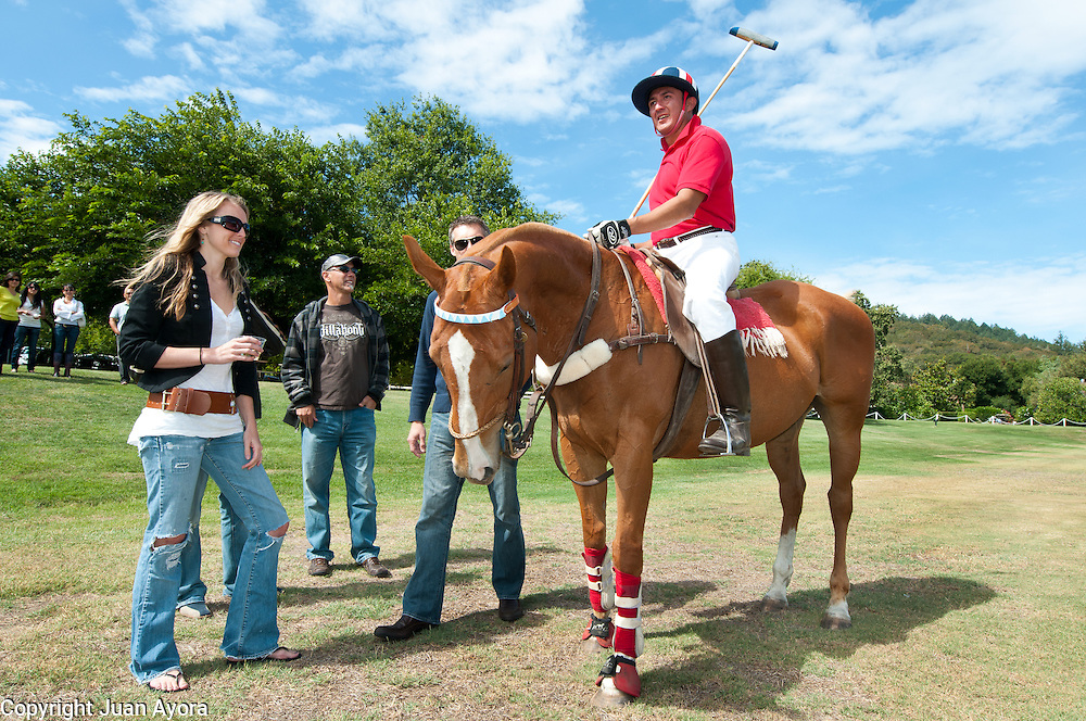 Carlos Armenta, mexican Polo player after a game in California.
